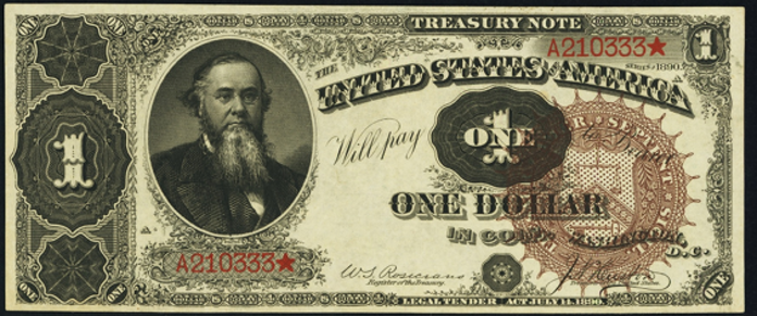 1890 $1 Treasury Note Value – How much is 1890 $1 Bill Worth?