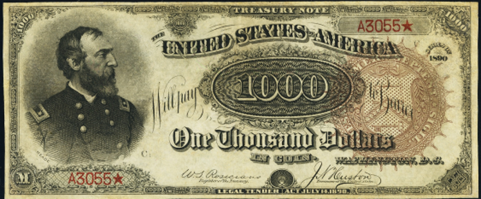 1890 $1000 Treasury Note Value – How much is 1890 $1000 Bill Worth?