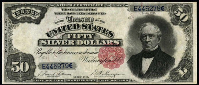 1891 $50 Silver Certificate Value – How much is 1891 $50 Bill Worth?