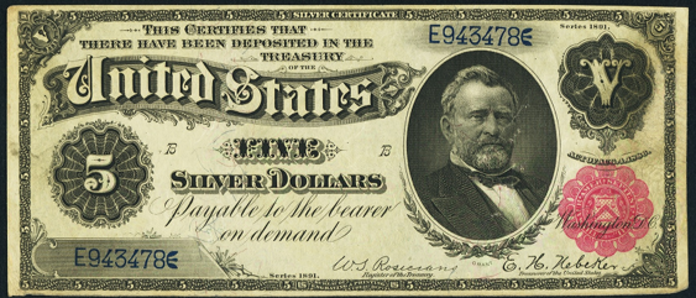 1891 $5 Silver Certificate Value – How much is 1891 $5 Bill Worth?