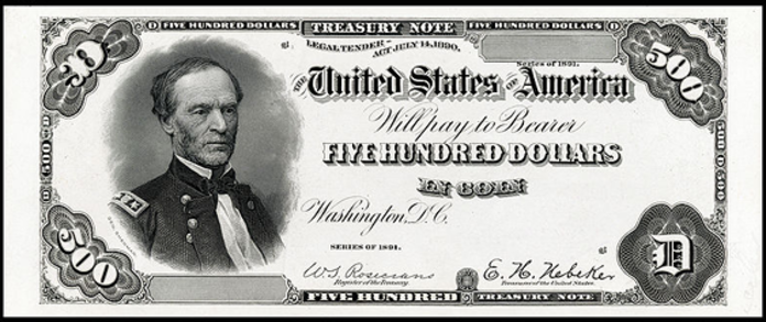 1891 $500 Treasury Note Value – How much is 1891 $500 Bill Worth?