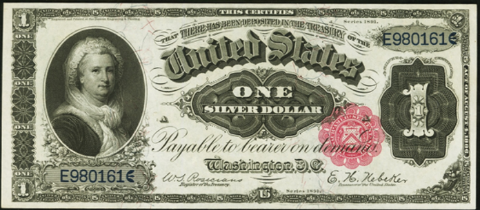 1891 $1 Silver Certificate Value – How much is 1891 $1 Bill Worth?