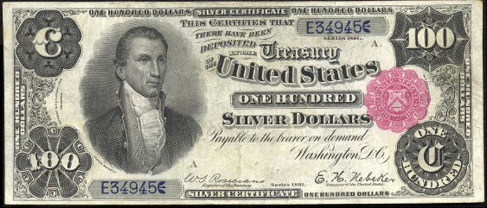1891 $100 Silver Certificate Value – How much is 1891 $100 Bill Worth?