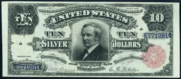 1891 $10 Silver Certificate Value – How much is 1891 $10 Bill Worth?