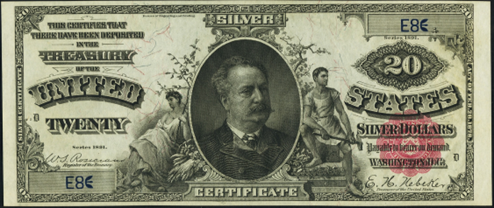 1891 $20 Silver Certificate Value – How much is 1891 $20 Bill Worth?
