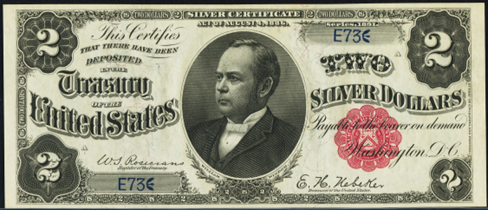 1891 $2 Silver Certificate Value – How much is 1891 $2 Bill Worth?