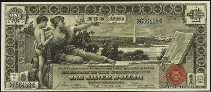 1896 $1 Silver Certificate Value – How much is 1896 $1 Bill Worth?