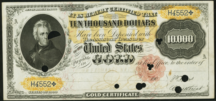 1900 $10000 Gold Certificate Value – How much is 1900 $10000 Bill Worth?