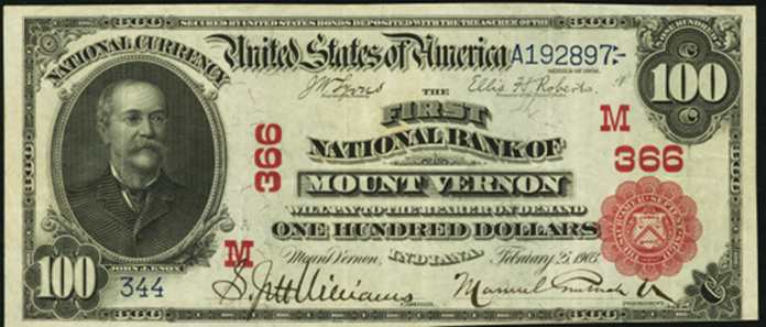 1902 $100 Bill Value - How Much Is 1902 Old National Bank of