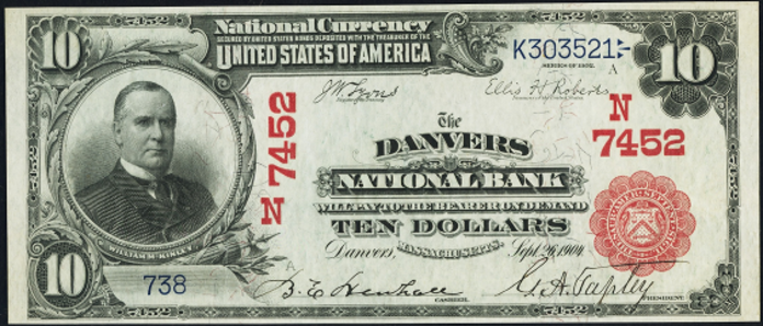 1902 $10 Bill Value – How Much Is 1902 First National Bank of Pocahontas Virginia $10 Worth?