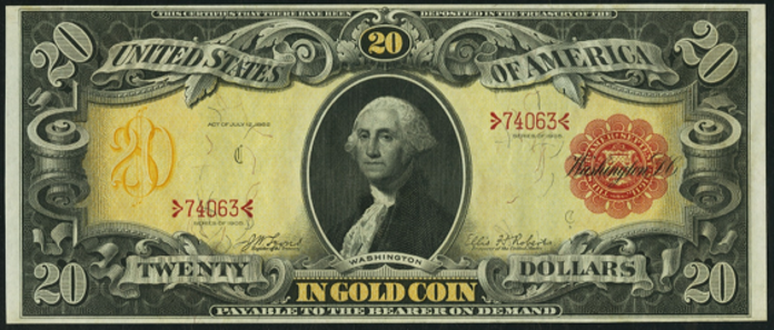 1905 $20 Gold Certificate Value – How much is 1905 $20 Bill Worth?