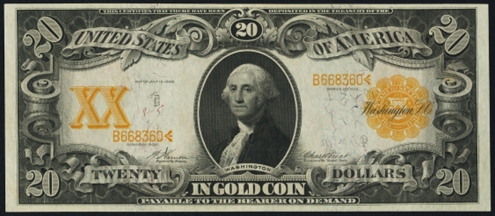 1906 $20 Gold Certificate Value – How much is 1906 $20 Bill Worth?