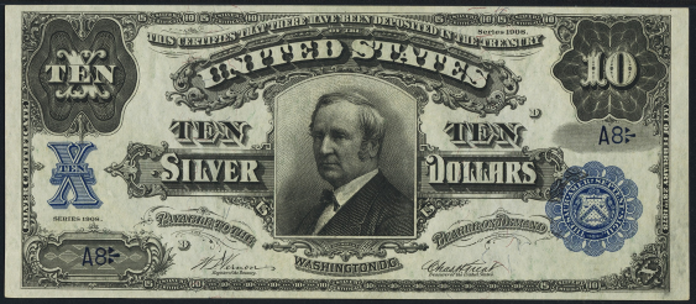 1908 $10 Silver Certificate Value – How much is 1908 $10 Bill Worth?
