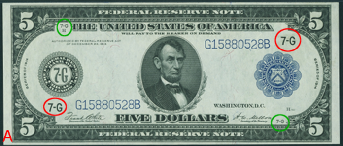 1914 $5 Blue Seal Federal Reserve Note Value – How much is 1914 $5 Bill Worth?