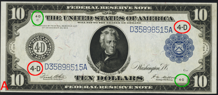 1914 $10 Blue Seal Federal Reserve Note Value – How much is 1914 $10 Bill Worth?