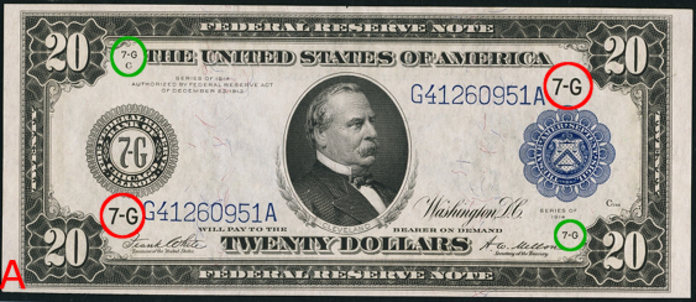 1914 $20 Blue Seal Federal Reserve Note Value – How much is 1914 $20 Bill Worth?