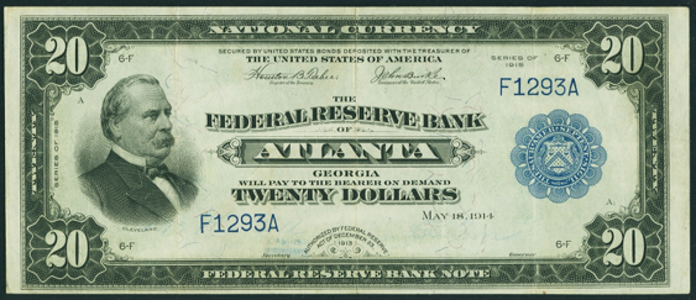 1915 $20 Federal Reserve Bank Note Value – How much is 1915 $20 Bill Worth?