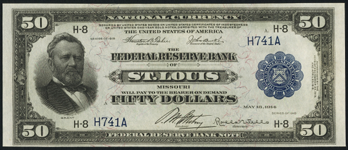 1918 $50 Federal Reserve Bank Note Value – How much is 1918 $50 Bill Worth?