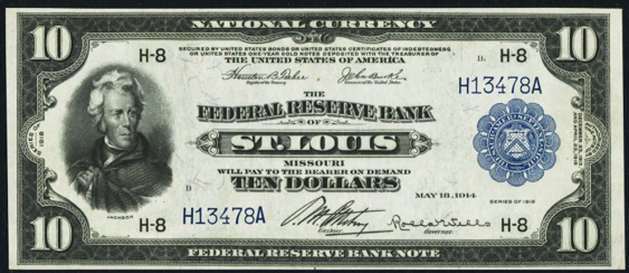 1918 $10 Federal Reserve Bank Note Value – How much is 1918 $10 Bill Worth?