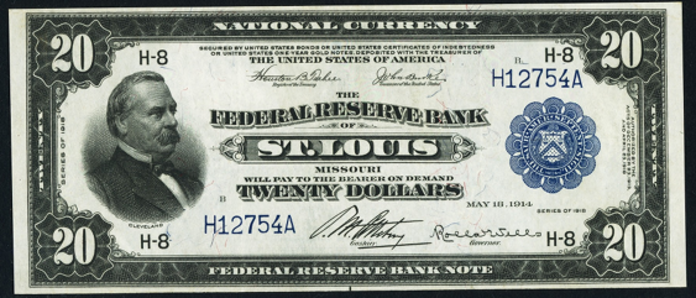 1918 $20 Federal Reserve Bank Note Value – How much is 1918 $20 Bill Worth?