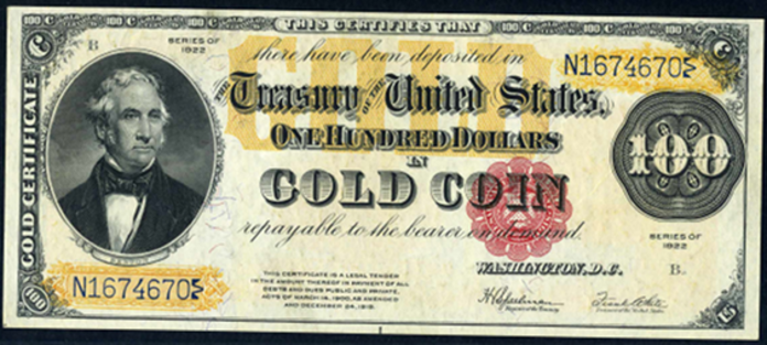 1922 $100 Gold Certificate Value – How much is 1922 $100 Bill Worth?