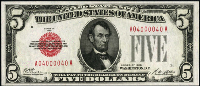 1928 $5 Legal Tender Value – How much is 1928 $5 Bill Worth?