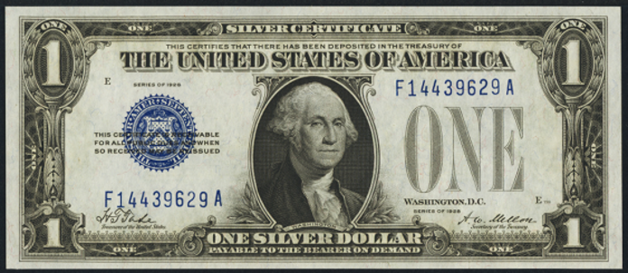 1928 $1 Silver Certificate Value – How much is 1928 $1 Bill Worth?