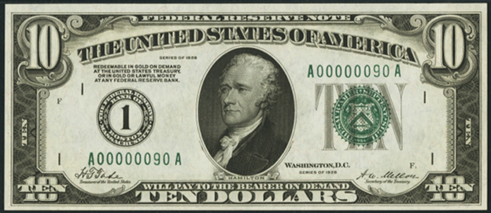 1928 $10 Federal Reserve Note Value – How much is 1928 $10 Bill Worth?