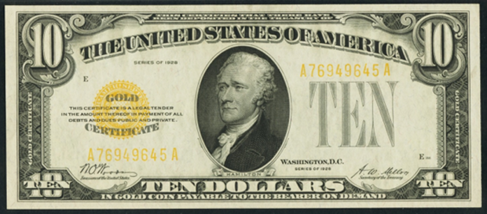 1928 $10 Gold Certificate Value – How much is 1928 $10 Bill Worth?