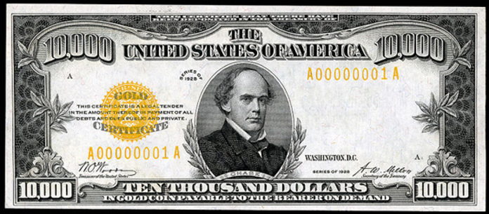 1928 $10000 Gold Certificate Value – How much is 1928 $10000 Bill Worth?