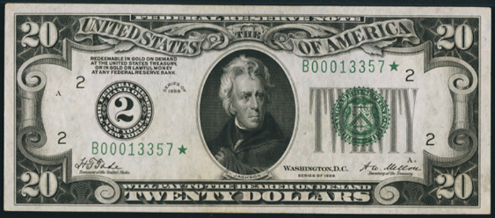 1928 $20 Federal Reserve Note Value – How much is 1928 $20 Bill Worth?