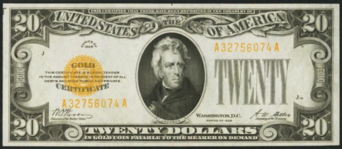1928 $20 Gold Certificate Value – How much is 1928 $20 Bill Worth?