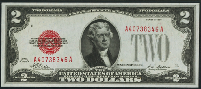1928 $2 Legal Tender Value – How much is 1928 $2 Bill Worth?