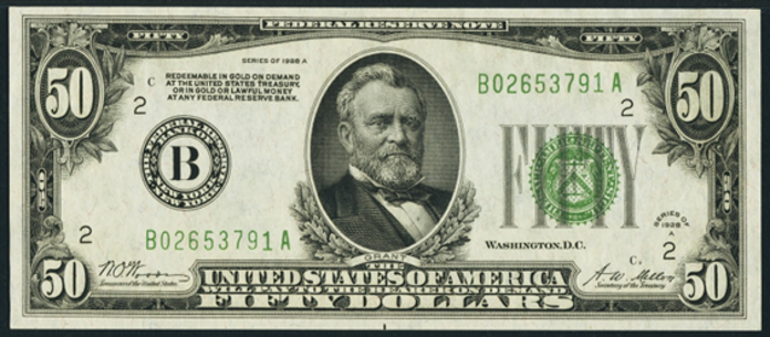 1928A $50 Federal Reserve Note Value – How much is 1928A $50 Bill Worth?