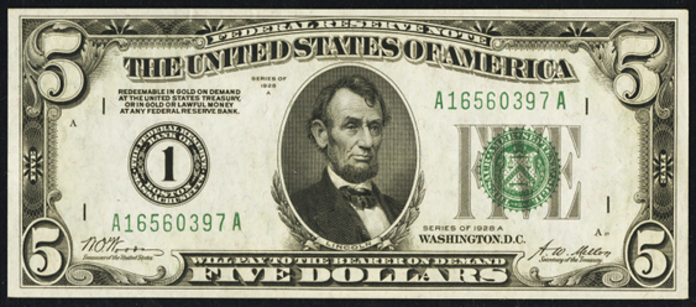 1928A $5 Federal Reserve Note Value – How much is 1928A $5 Bill Worth?