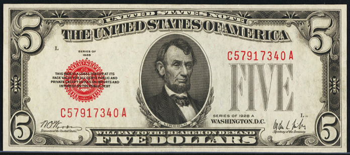 1928A $5 Legal Tender Value – How much is 1928A $5 Bill Worth?