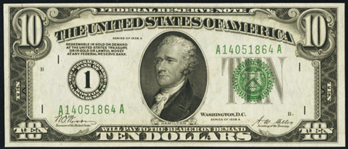 1928A $10 Federal Reserve Note Value – How much is 1928A $10 Bill Worth?