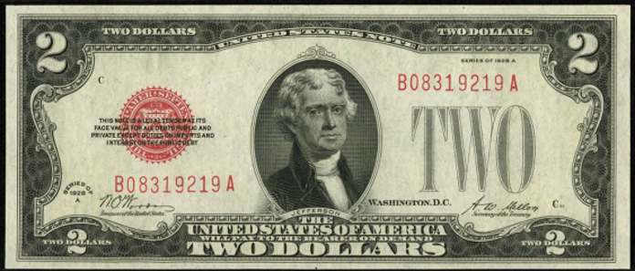 1928A $2 Legal Tender Value – How much is 1928A $2 Bill Worth?