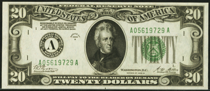 1928B $20 Federal Reserve Note Value – How much is 1928B $20 Bill Worth?