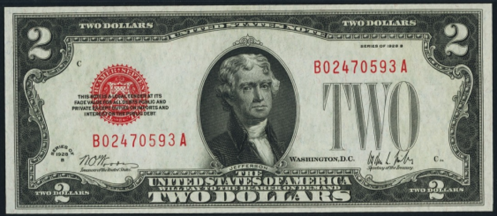 1928B $2 Legal Tender Value – How much is 1928B $2 Bill Worth?