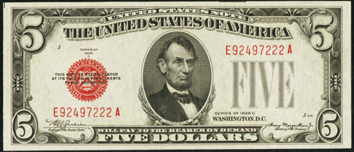 1928C $5 Legal Tender Value – How much is 1928C $5 Bill Worth?