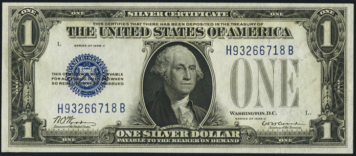 1928C $1 Silver Certificate Value – How much is 1928C $1 Bill Worth?