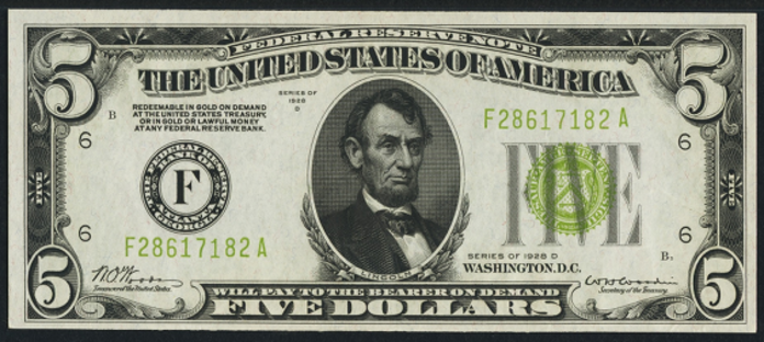 1928D $5 Federal Reserve Note Value – How much is 1928D $5 Bill Worth?