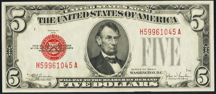 1928E $5 Legal Tender Value – How much is 1928E $5 Bill Worth?