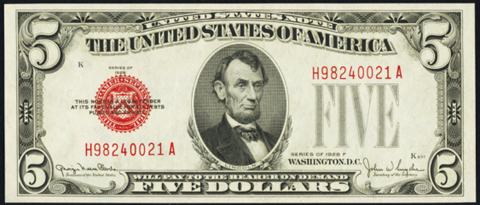 1928F $5 Legal Tender Value – How much is 1928F $5 Bill Worth?