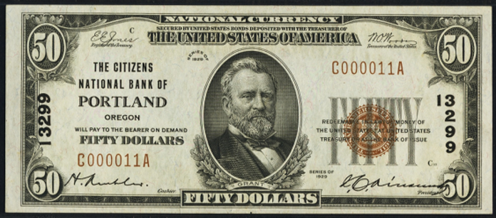 1929 $50 National Bank Notes Value – How much is 1929 $50 Bill Worth?