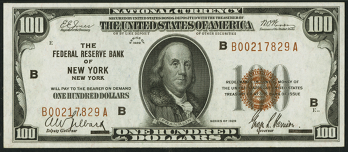 1929 $100 Federal Reserve Bank Note Value – How much is 1929 $100 Bill Worth?