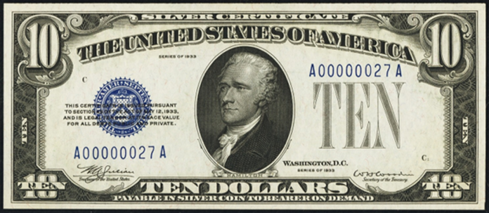 1933A $10 Silver Certificate Value – How much is 1933A $10 Bill Worth?