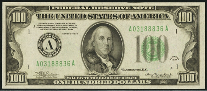 1934 $100 Federal Reserve Note Value – How much is 1934 $100 Bill Worth?