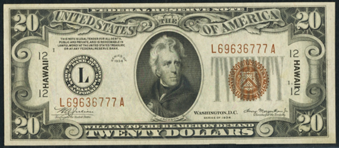 1934 $20 Brown Seal Seal WW2 Value – How much is 1934 $20 Bill Worth?